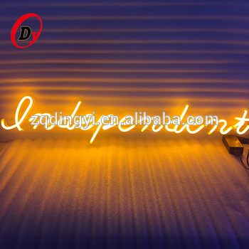 Custom design size and shapes advertising led flexible neon letters customized personalized neon bar signs for home