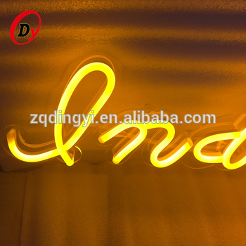 glass tube material rgb color changing led flex neon letters custom made led modules light source neon led bar and beer signs