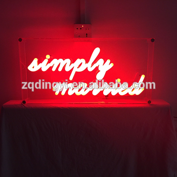 Professional custom made bar party nightclub advertising color changing led acrylic board battery powered neon signs