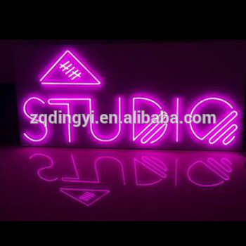 CE approved factory rgb color changing glass tube acrylic backboard neon signs customized