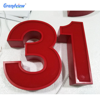 OEM outdoor custom led front lit acrylic wall sign channel lettees for sale