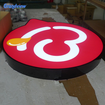OEM design acrylic face LED backlit Coffee Store logo sign for Advertising