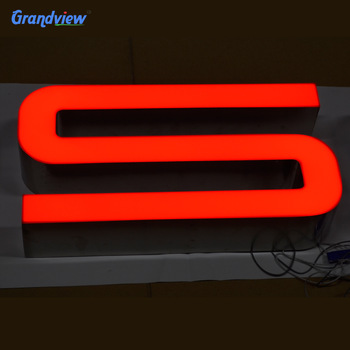 Hanging office outdoor illuminated 3d  led acrylic letter signs