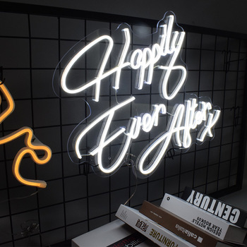 Liquor Store Logo Outdoor Letters Happily Ever After Light Acrylic Tira De Led Custom Made Neon Sign
