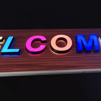 Attractive Free Standing Welcome Thru Led Sign Multicolor  Mini Luminous Characters Acrylic Alphabet Letter For Tea Shop Signs