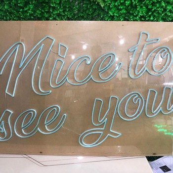 Nice to meet you Manufacturer customized led sign light glass neon sign for shop, hotel,Office,bar, store, home decoration