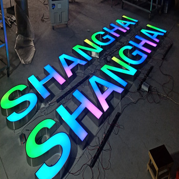 rgb changeable signboard acrylic charm customized led letters night club signs