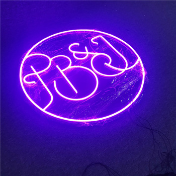Fashion Style Round Shape  It Was All A Dream Neon Sign Wedding Custom Neon Led Sign