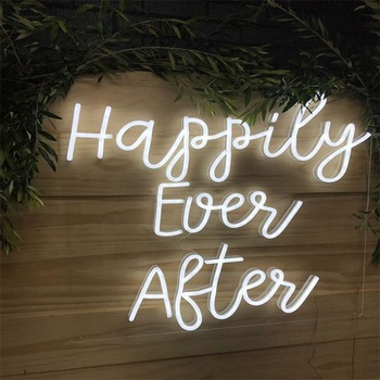 Cheap Electronic Acrylic Led Letters Decorative Custom Made flex glass Neon Sign