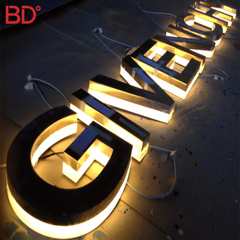 Led Light Up Sign Metal and Acrylic Store Backlit Sign Lighting Sign for Shops