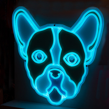 custom dog made blue acrylic led flex strip neon sign logo for entertainment venues