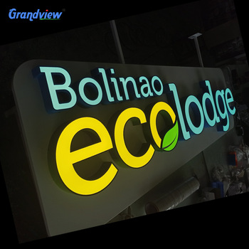 Customized 3D Outdoor 30mm Advertising LED Illuminated Acrylic Mini Channel Letter Sign