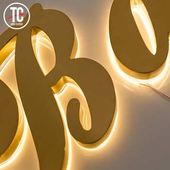 Stainless steel and acrylic led signs