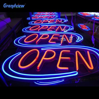 Flex PVC/silicon tube colorful Led open neon sign