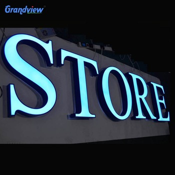 Guangzhou factory outdoor business advertising wall 3d led light acrylic custom logo sign