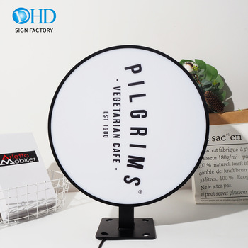 Round Outdoor Acrylic Light Box Sign 3D LED Advertising Light Boxes