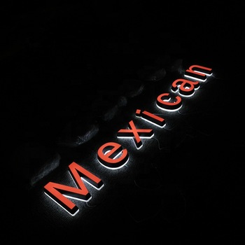 Outdoor LED Pizza Signs Acrylic Mini Letter Sign Acrylic Face Lighting Letters