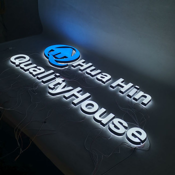 Double sided outdoor led acrylic open sign 3d decoration led letter sign