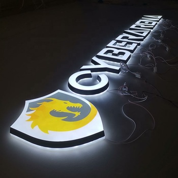 Custom Indoor Company Acrylic Letter Signs Led Channel 3D Logo design letter