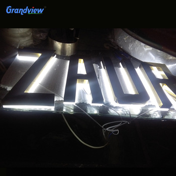 Custom design store decorative small recycled metal letters advertising
