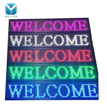 Advertising screens led scrolling text display, programmable scrolling led message sign