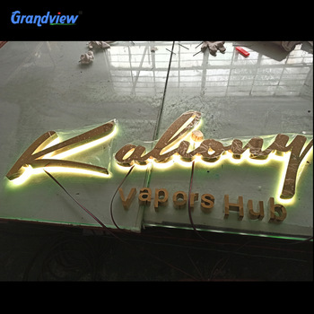 Mini Led Acrylic Channel Letter Sign LED RGB Fabricate Illuminated 3D For Exterior Or Interior Decoration Advertising