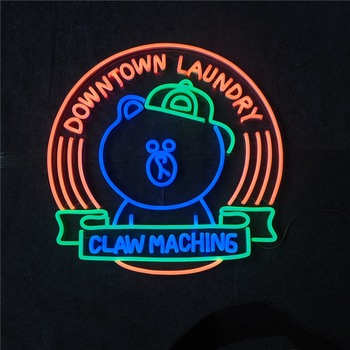 Custom made 3d led neon sign for shop opening