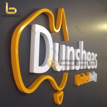 wall mounted led full lit led channel acrylic letter and logo sign custom illuminated sign