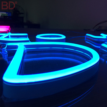 Advertising 3D high quality face-lit led neon letter sign china