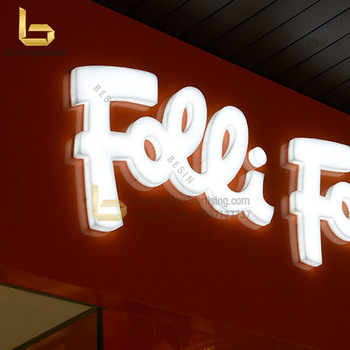 wall mounted led full lit acrylic face sign full lighting channel letters signs
