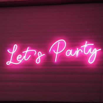 Custom Advertisement Decorations Clear Outdoor Led Neon Light Sign