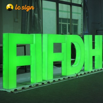 Electronic Signs epoxy resin led full-lit sign channel letters for Advertising