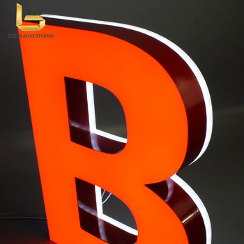 top quality frontlit  channel  letters advertising led letters signs for store