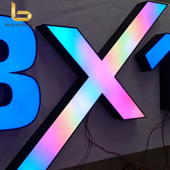 Customized LED frontlit Channel Letters Large Advertising Letters signs for outdoor