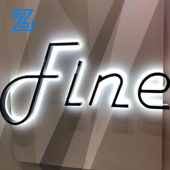 Customized Outdoor LED Signage Metallic Painted Stainless Steel Backlit backlit 3d letters 3d sign