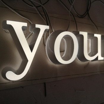 Acrylic Word 3D LED Room numbers and letters advertising purposes Mini Led Sign