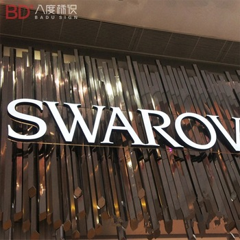 Custom 3d logo sign acrylic led channel letters for shop indoor and outdoor use