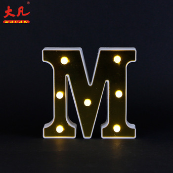 shop window rustic retro advertising metal wall letters marquee led lights