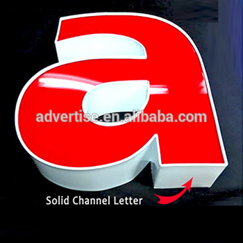 acryl SS frontlit led channel sign bright lighting epoxy resin led luminous alphabet letters for outdoor mini led sign