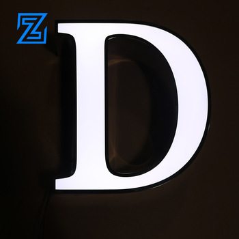 High quality Store Outdoor Sign Bordered letter 3D Illuminated Led Light Channel Letter Electronic Sign