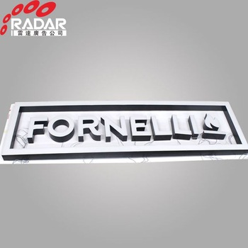 Factory directly supply storefront decoration 3d led frontlit signs