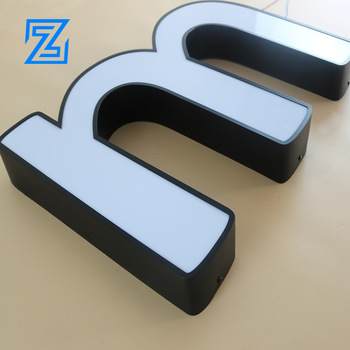 Indoor and Outdoor Brightness Led acrylic sign Stainless steel border letter signage for company 3d logo