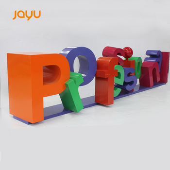 Outdoor market or park advertising stainless steel paint letters large sign