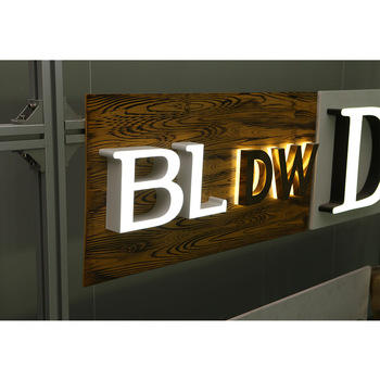 LED Backlit Sign Letters For Outdoor Advertising Signs
