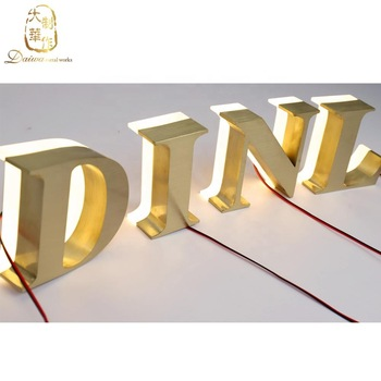 LED stainless steel Letters light signs 3D led letter signage
