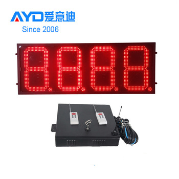 Gas Station Electronic Led Price Sign With Wireless Controller
