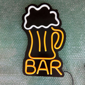 Custom wall mounted bar cafe store outdoor advertising sign  Led neon sign