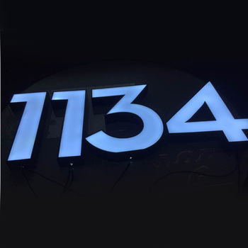Customized led facelit number for house door hotel room