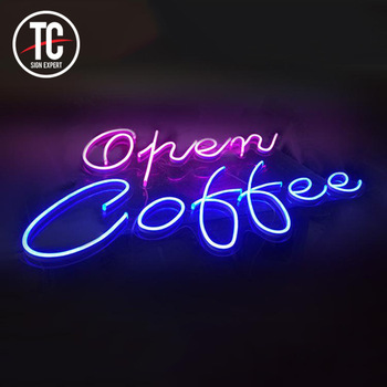 China Neon Sign Manufacturer For Coffee  Shop Store