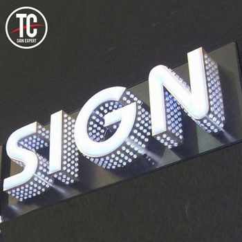 Customized 3d led side perforated letter and face lit letters